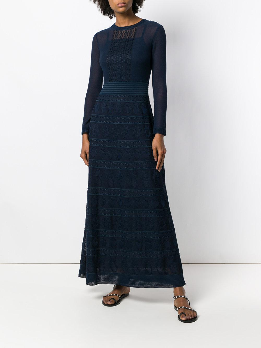 long fantasy dress - Blue M Missoni Cheap With Paypal Clearance 100% Guaranteed 9pJrj