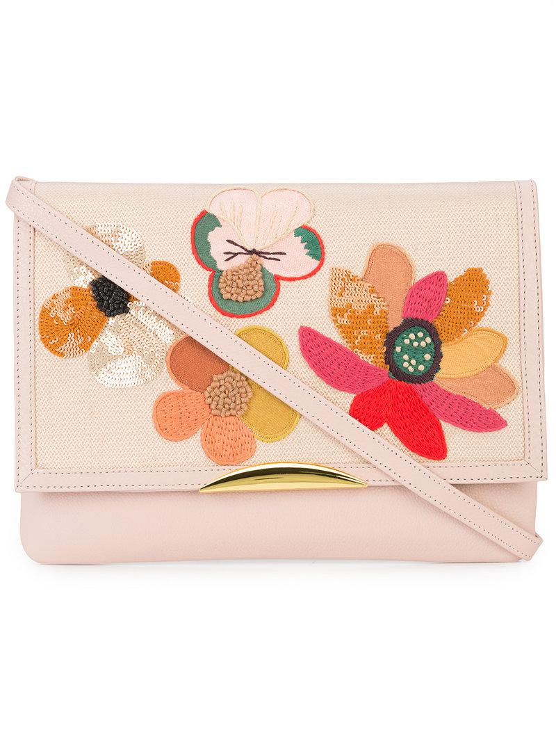 Lizzie Fortunato Jewels floral embroidered shoulder bag Outlet Cheap Price Free Shipping Official Outlet Supply Free Shipping Real ARxWdhzZ