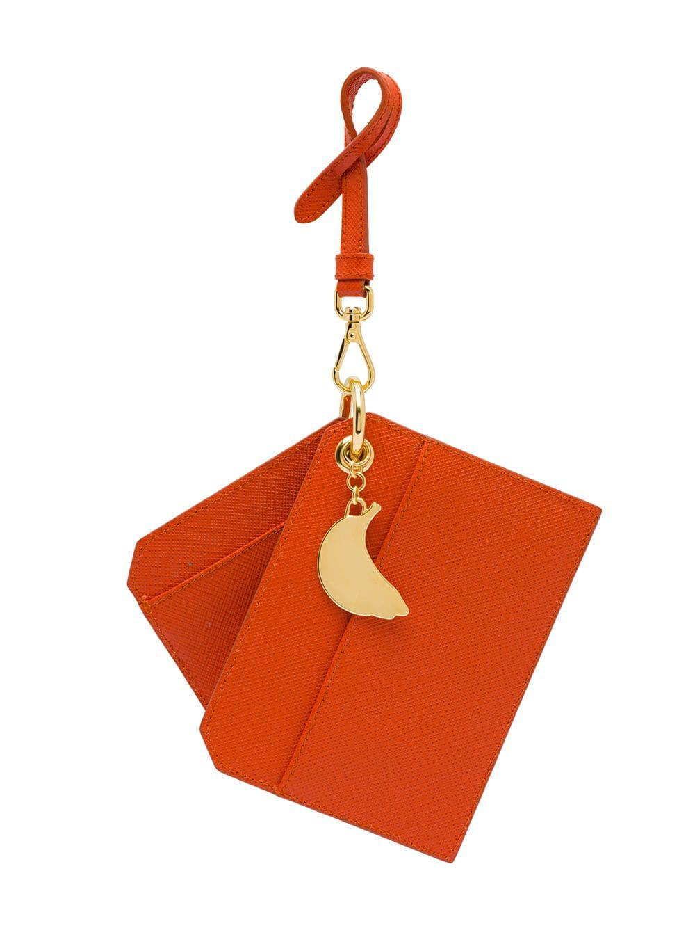 ecae49e68f34 Lyst - Prada Keychain Trick With Bananas Charm in Orange