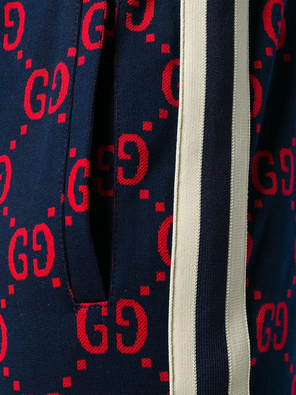 c430c7180 Gucci Gg Jacquard Jogging Trousers in Blue for Men - Lyst