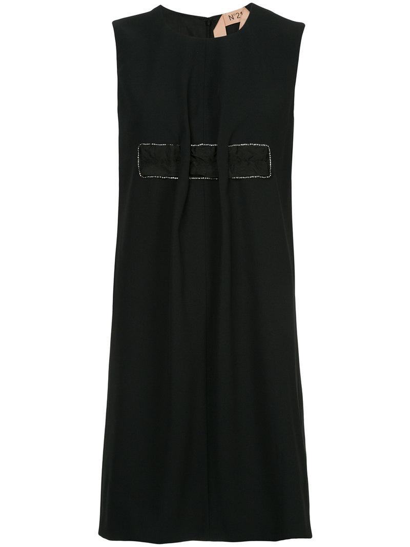 Free Shipping The Cheapest embellished shift dress - Black N°21 Discount Limited Edition Official Site Cheap Price Clearance Cheap Real Clearance 100% Original gBWjZE