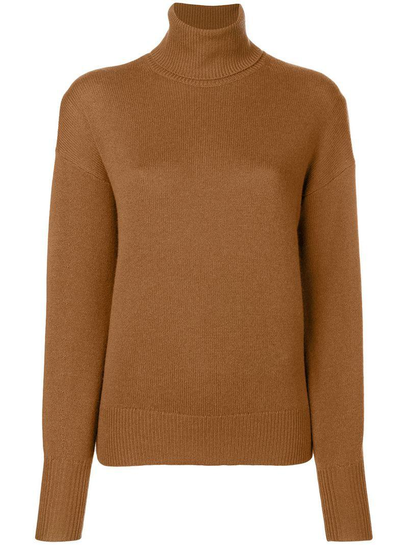 8fd4aceae0c9e Theory - Brown Cashmere Turtleneck Sweater - Lyst. View fullscreen