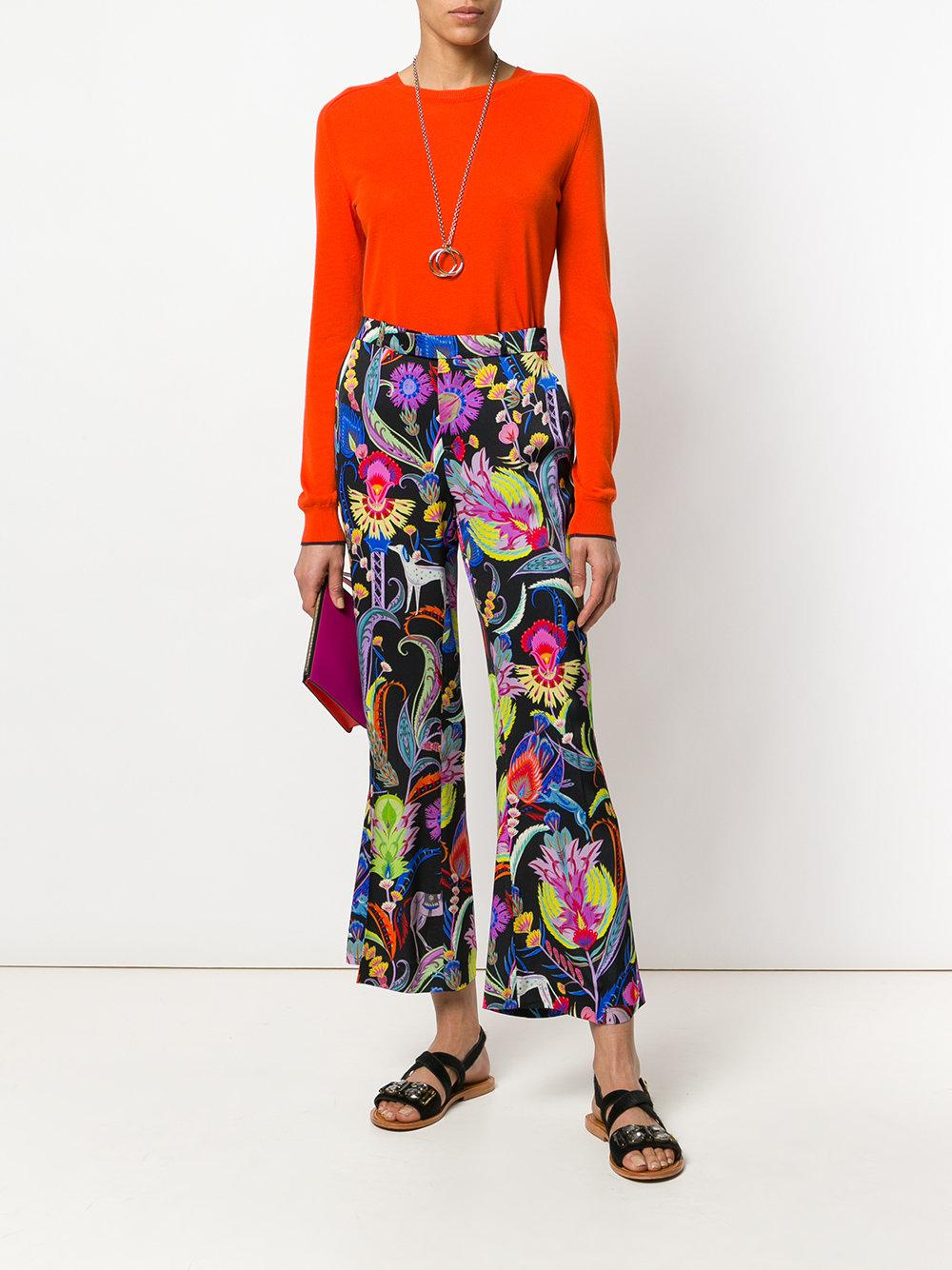 Buy Cheap Best Prices mixed floral print flared trousers - Multicolour Etro Super Visit New For Sale Buy Cheap In China Cheap Sale Factory Outlet qa0xMdCRV