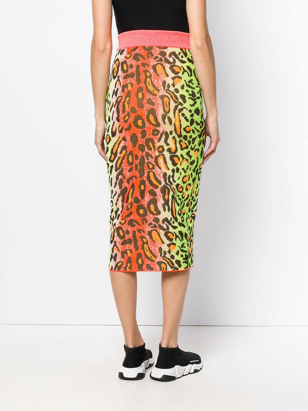 leopard print skirt - Yellow & Orange Stella McCartney Cheap Sale For Sale 1CFXEBc2E