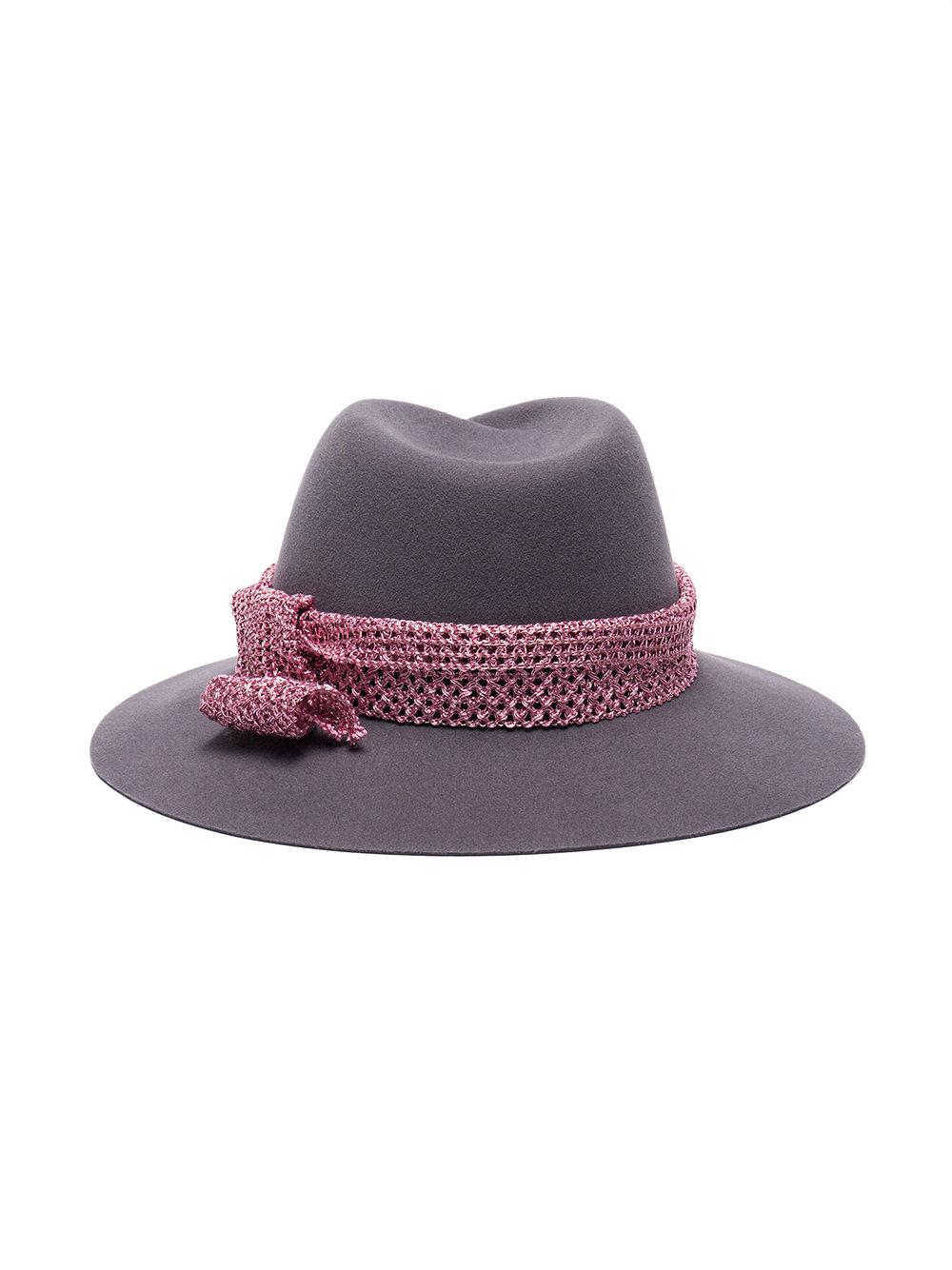 44c2f614ba99a Lyst - Maison Michel Grey Virginie Wool Felt Hat in Gray - Save  13.765182186234824%