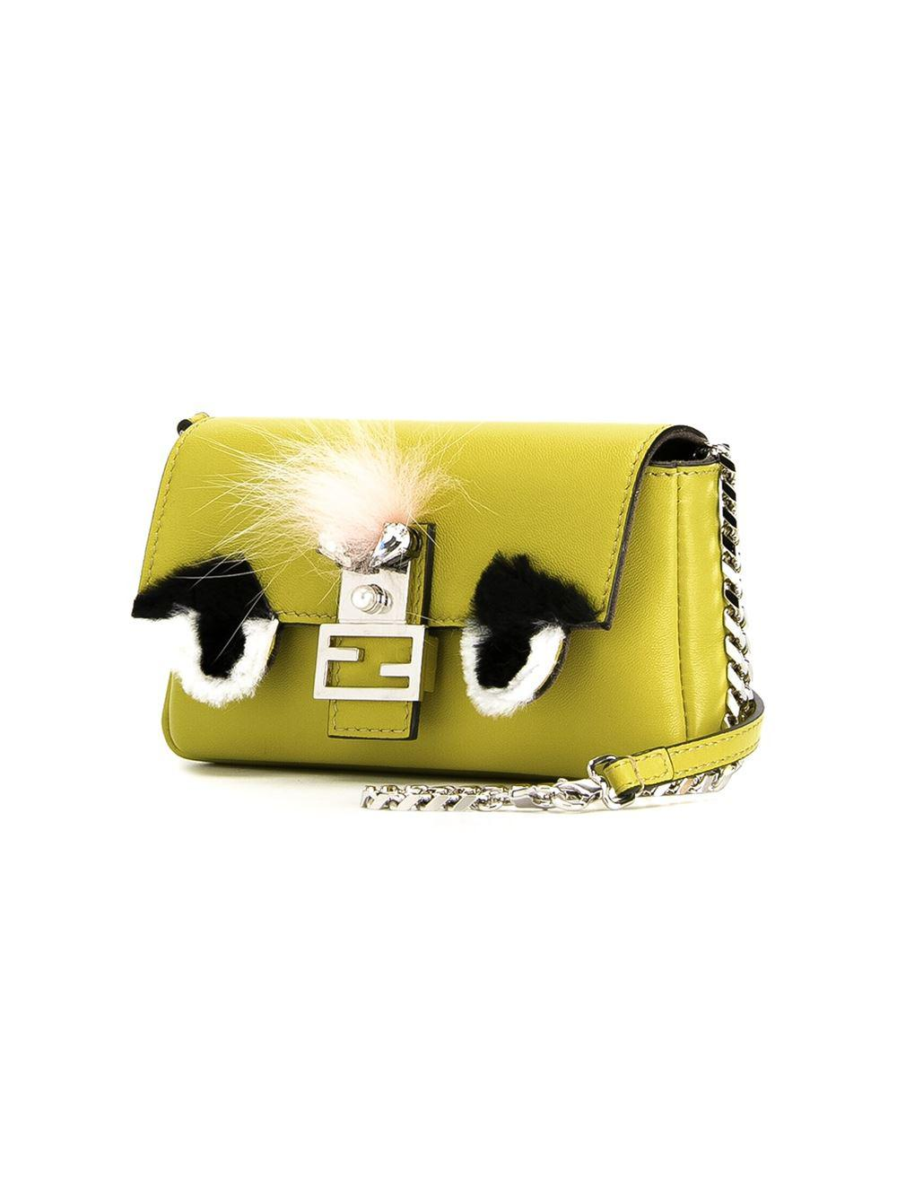 db8620a5881a ... order fendi yellow micro baguette bag bugs crossbody bag lyst. view  fullscreen 71b77 382e2 ...
