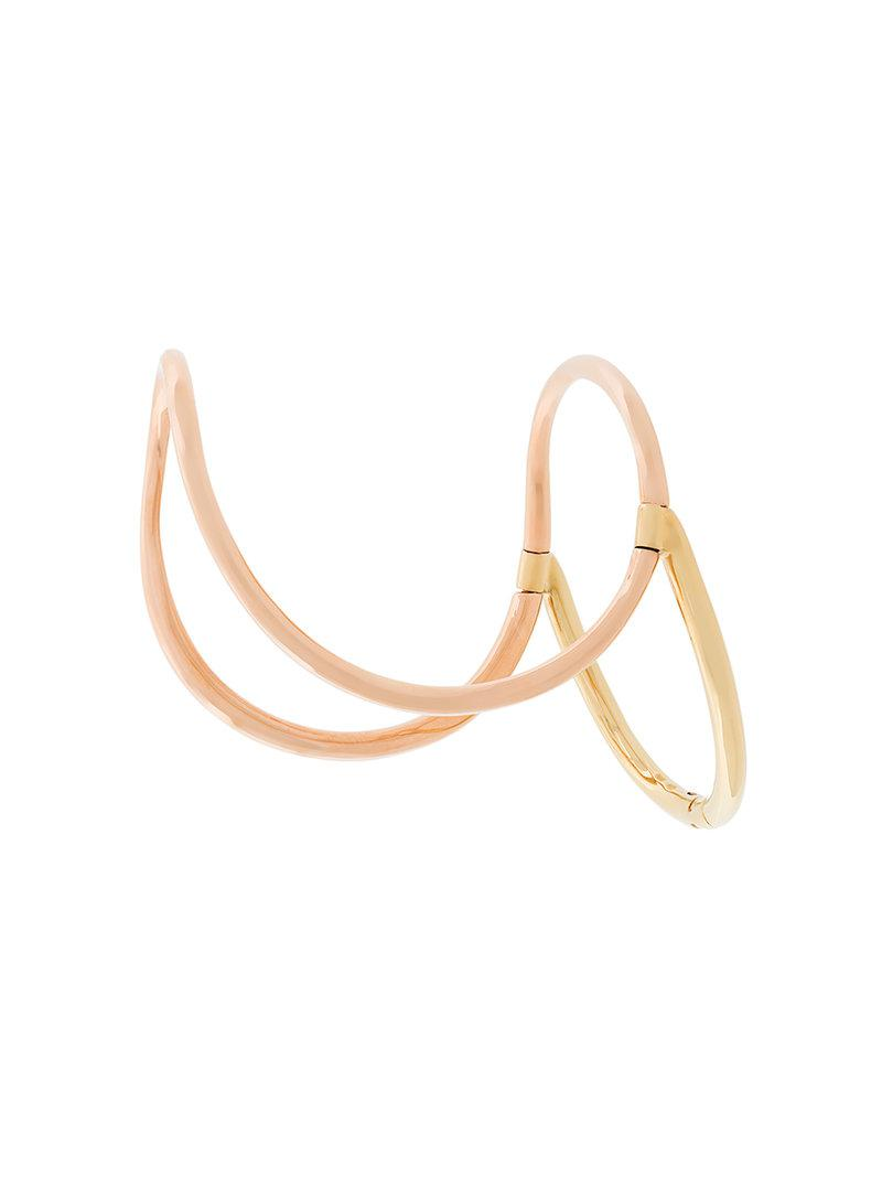 Charlotte Chesnais structured bangle - Metallic 2nq97Wz