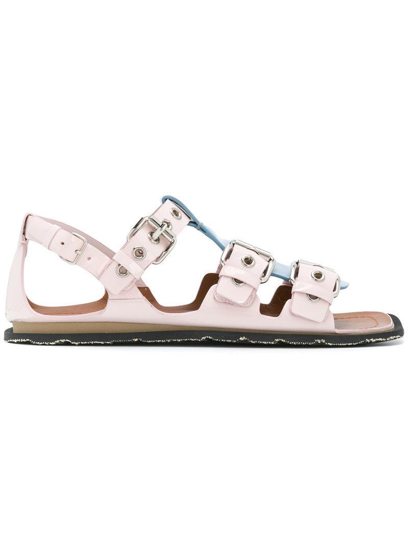 T-strap buckle sandals - Pink & Purple Miu Miu e8hAQfCezU