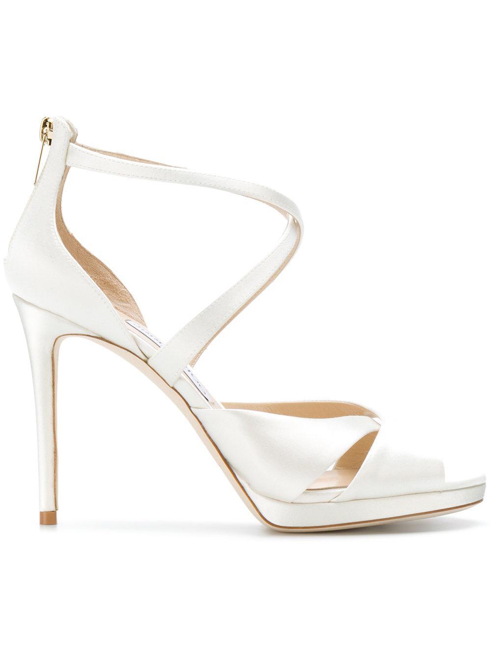 eda90901d27 Lyst - Jimmy Choo Lorina 100 Sandals in White
