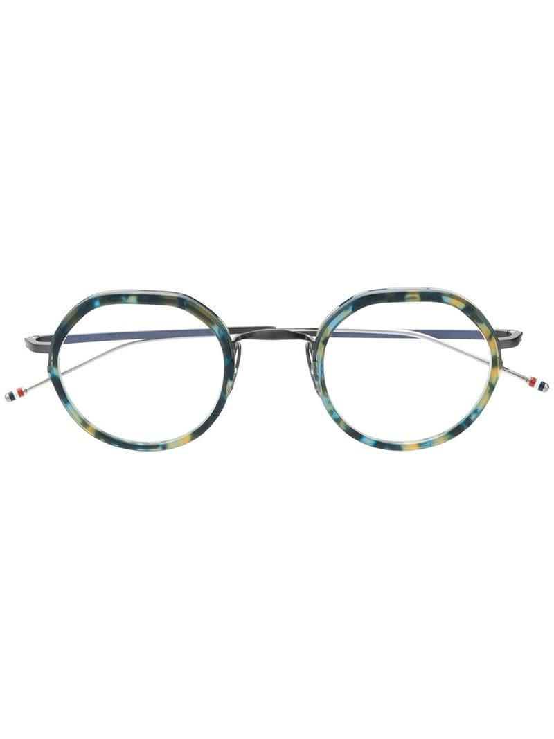 84dfd3301cfe Thom Browne Navy Tortoise   Black Iron Glasses in Blue for Men - Lyst