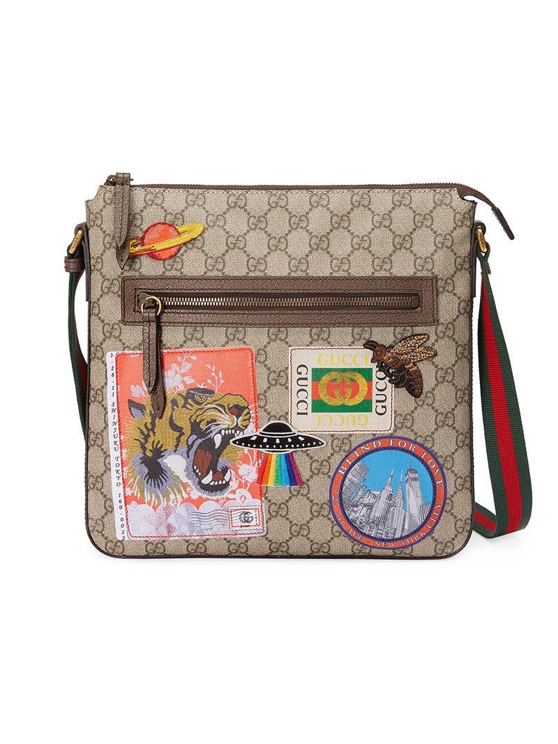 b083de7e00c Gucci - Multicolor Sac à bandoulière en toile suprême GG souple avec motifs  Courrier for Men