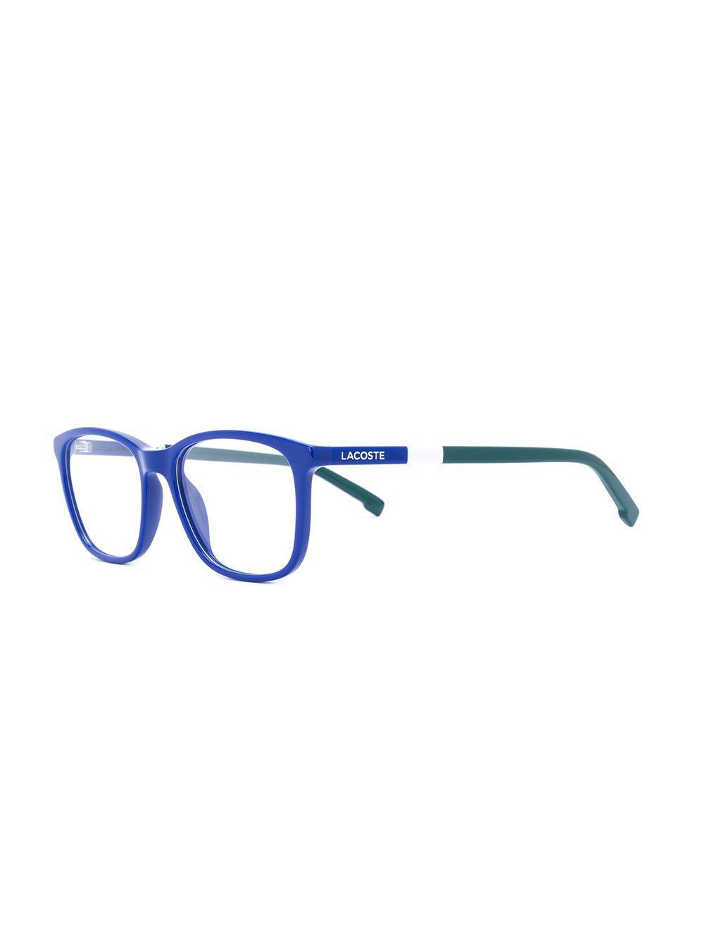 652b4832f1d60 Lyst - Lunettes à monture carrée Lacoste en coloris Bleu