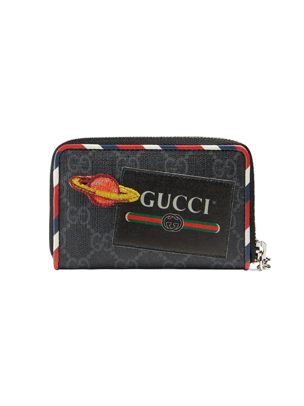 3ab1f9e751a5 Lyst - Gucci Night Courrier GG Supreme Card Case in Black for Men