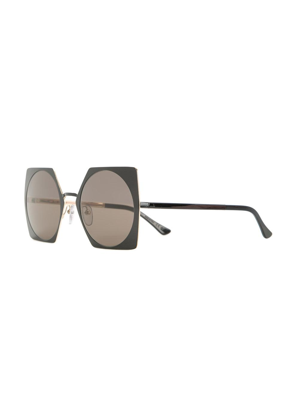 9e099269f23 Marni Eyewear Square Frame Sunglasses in Black - Lyst
