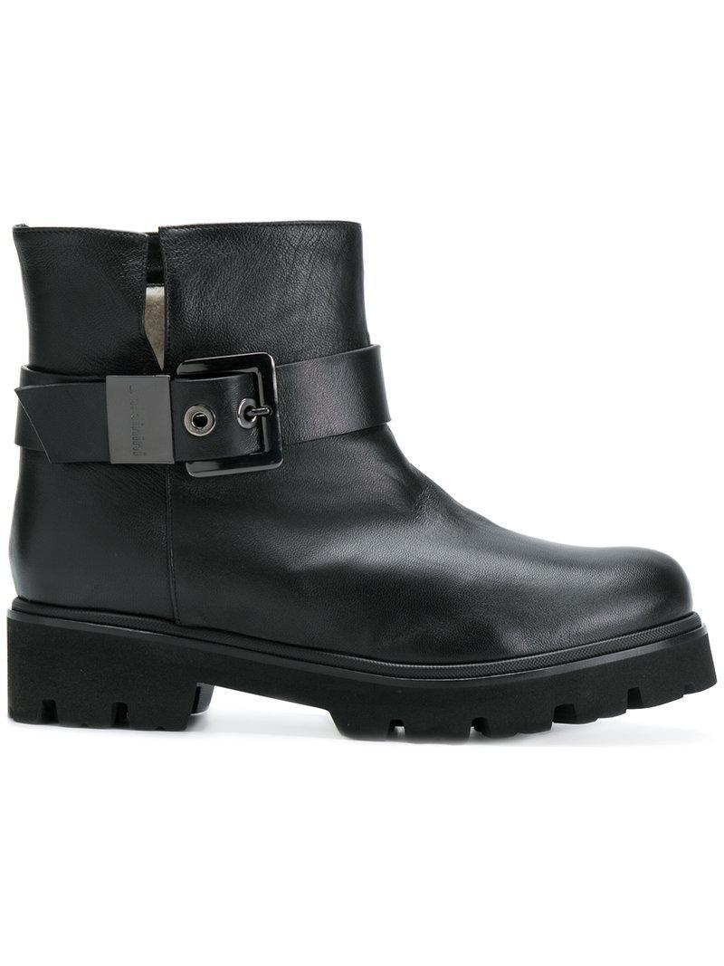 studded stap boots - Black Baldinini gQO7Gw1