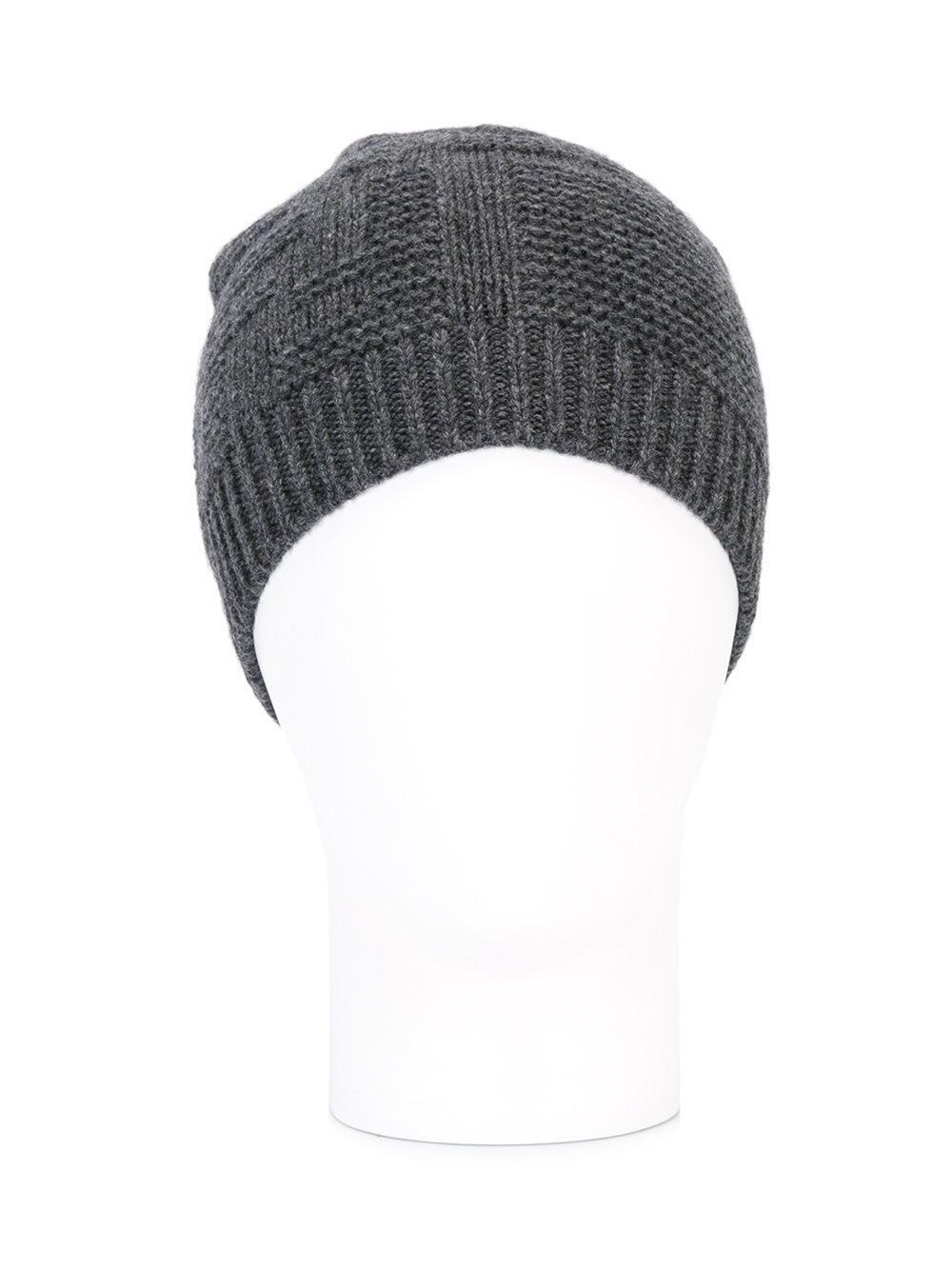 8d3f61e0199 Fendi - Gray Knit Beanie - Lyst. View fullscreen