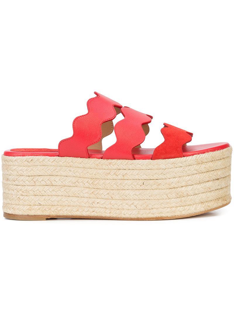 Lauren flatform sandals - Red Chloé Cheap Sale Extremely IrZrn6