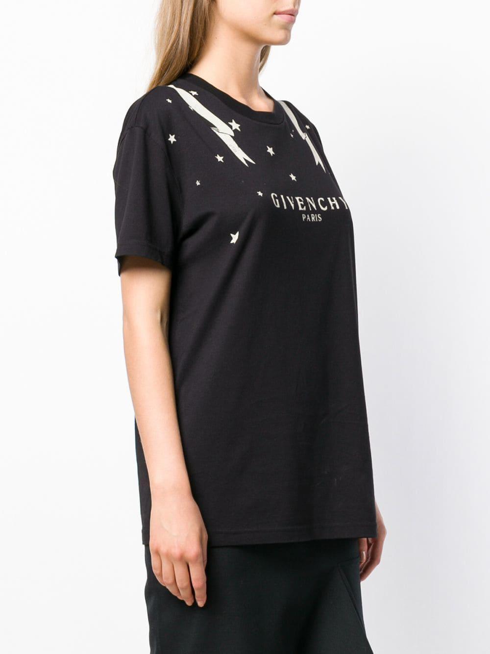 385665a8f85 Lyst - Givenchy Black Gemini Logo T-shirt in Black