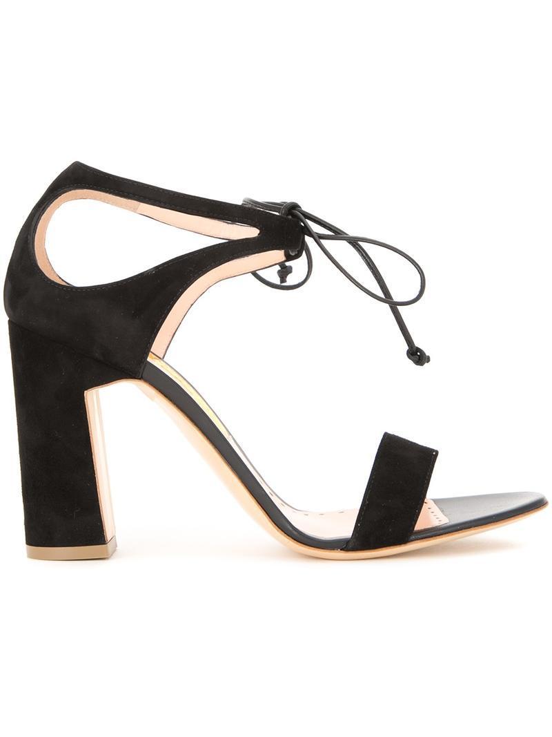 Rupert Sanderson stiletto sandals - Black farfetch Footaction Descuento Barato Para Barato Bonito Compra KBFLm