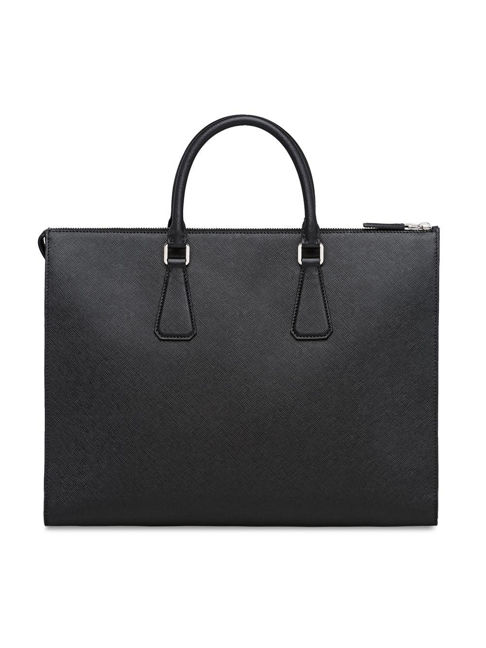 af4db5ed1c16 Prada Saffiano Leather Tote in Black for Men - Lyst
