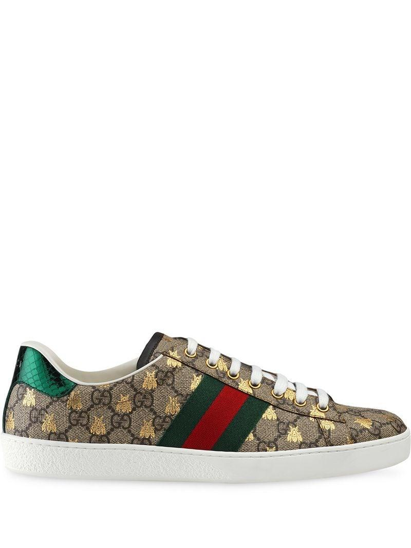 884f3f13bb8 Lyst - Gucci Ace GG Supreme Bees Sneakers for Men
