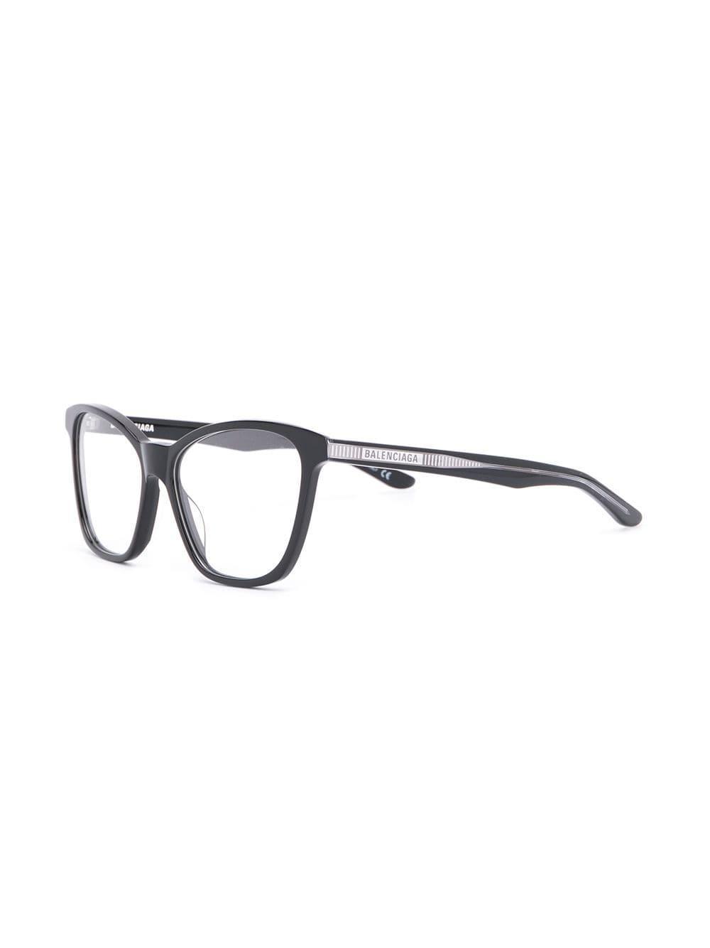fdd566bc4c2 Balenciaga - Black Square Frame Glasses - Lyst. View fullscreen