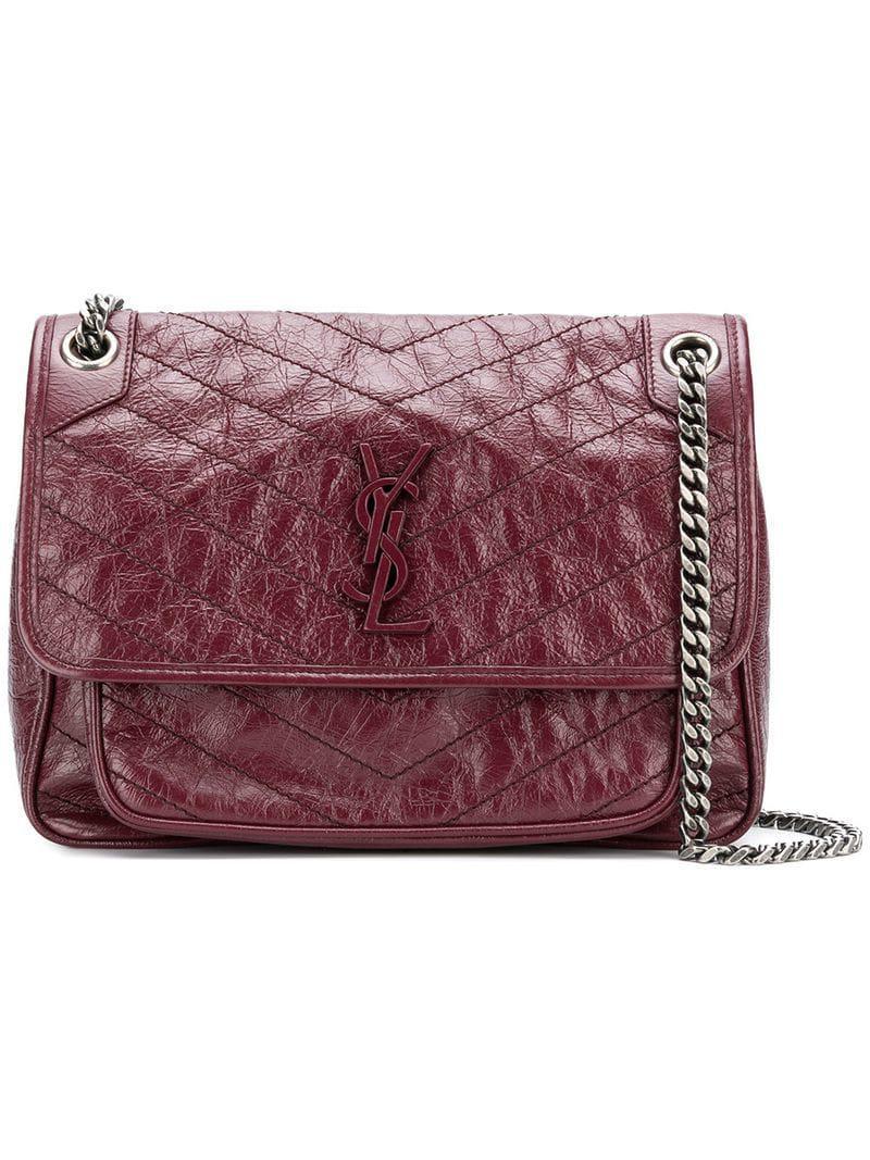 00b0cd957ea8 Saint Laurent Niki Medium Shoulder Bag in Red - Lyst