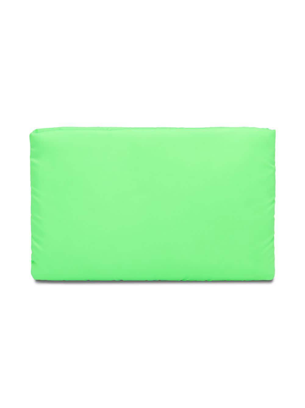 0e559c363418 Lyst - Prada Fluorescent Green Medium Padded Nylon Clutch in Green