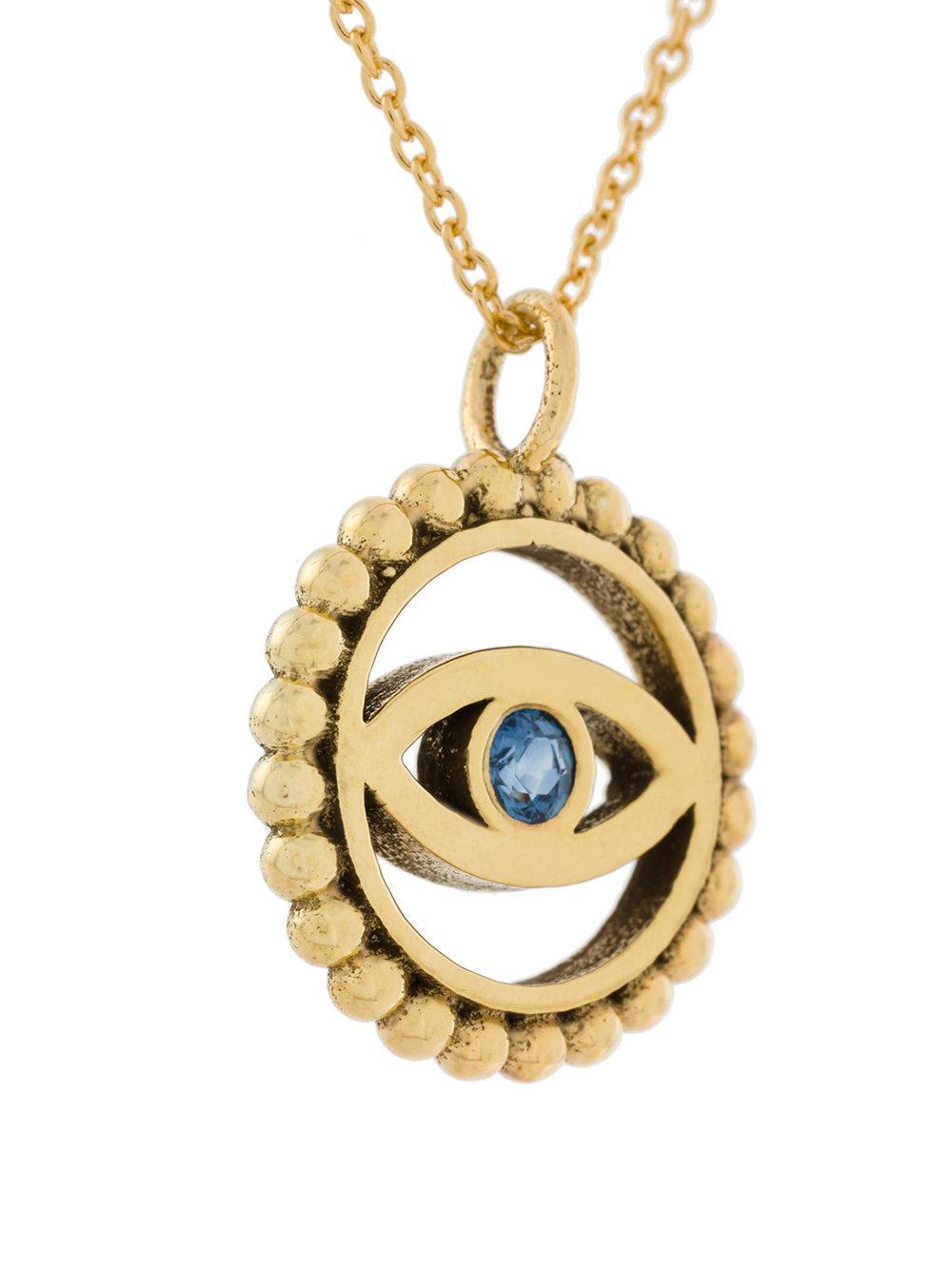Eye M By Ileana Makri Spirit Eye necklace - Metallic 1FuT2
