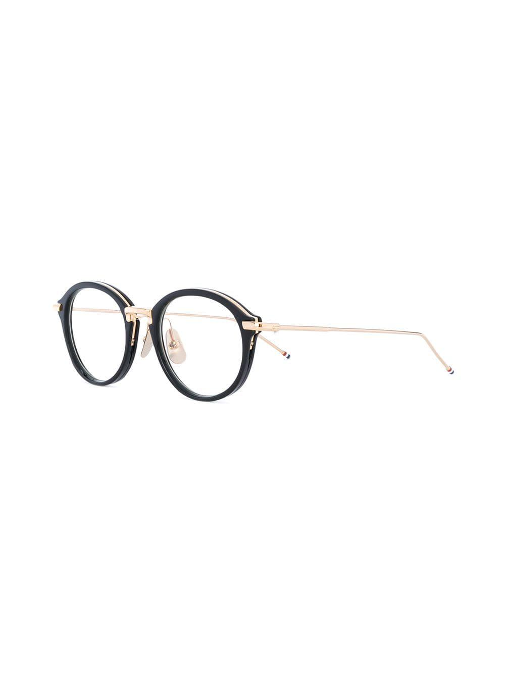 74dfc2d71b Thom Browne Black   Shiny 18k Gold Optical Glasses in Black - Save  32.041049030786766% - Lyst