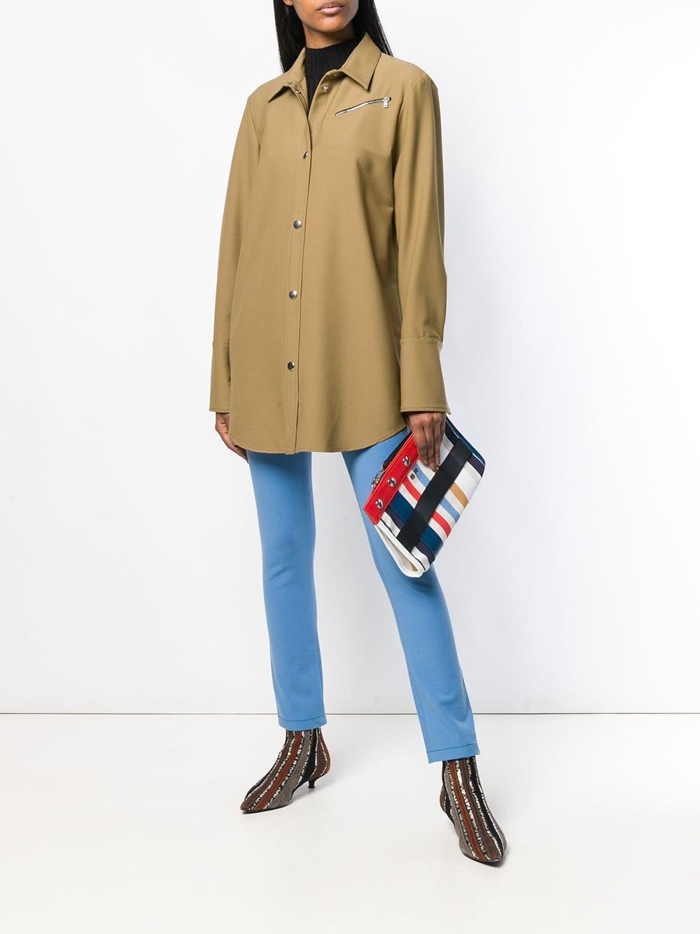 Sonia Rykiel - Multicolor Striped Clutch - Lyst. View fullscreen a149e1776ce7e