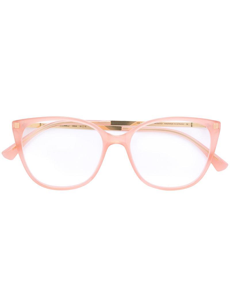 7474875522 Lyst - Mykita Classic Cat-eye Glasses in Pink