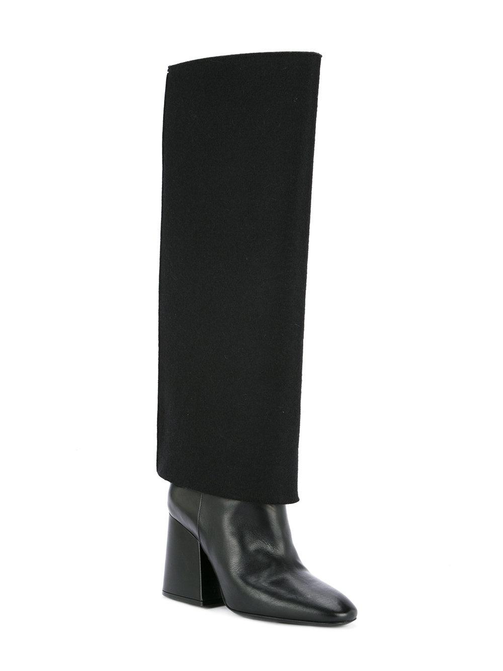 Trompe Loeil knee high boots - Black Maison Martin Margiela Clearance Shop For Cheap Sale Limited Edition Discount Affordable 100% Authentic Sale Online Outlet 2018 Newest jOkPusH