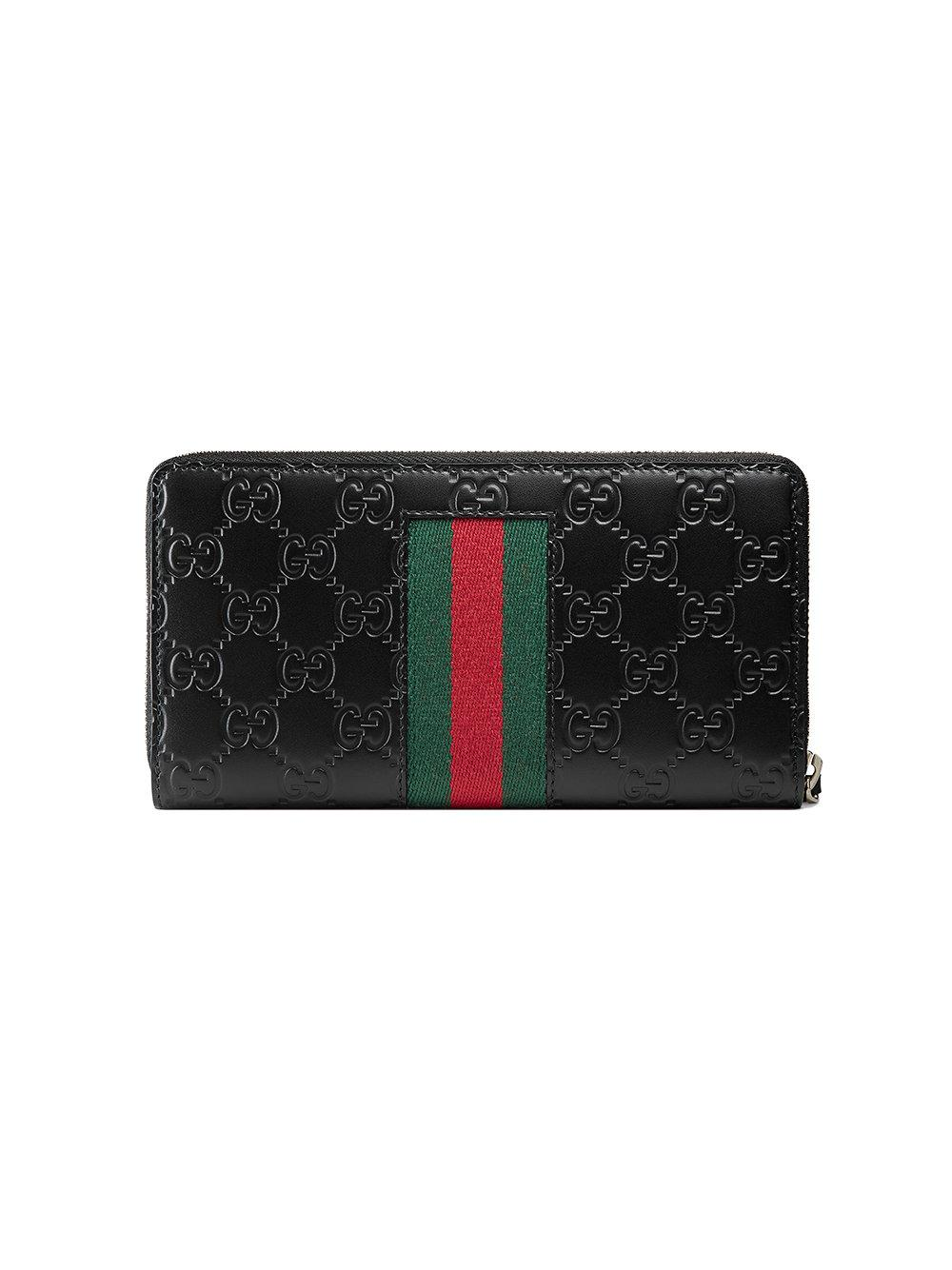 a4074acd286b Gucci - Black Signature Web Wallet for Men - Lyst. View fullscreen