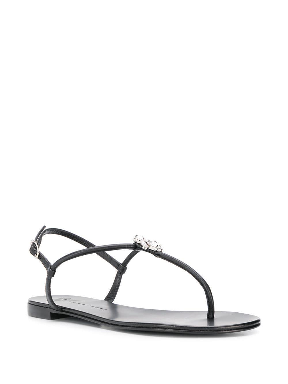 6bb69bb17124 Giuseppe Zanotti Anya Love Sandals in Black - Lyst