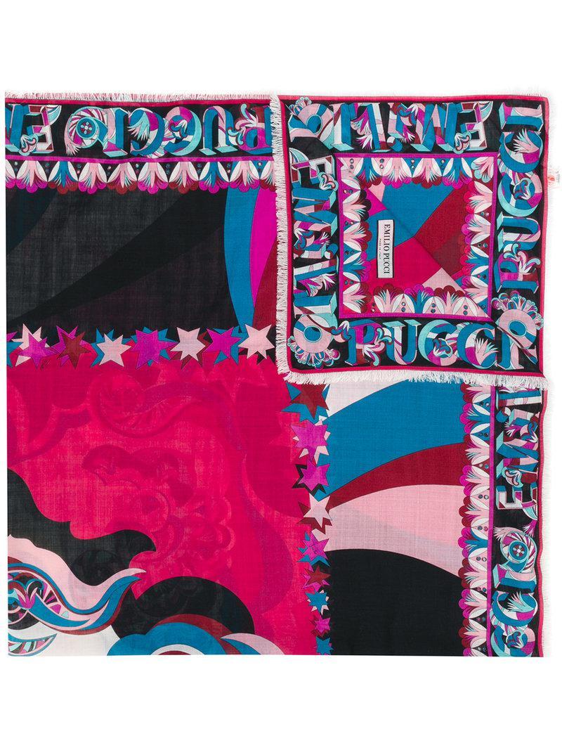 stars print scarf - Multicolour Emilio Pucci l7riUA6fdb
