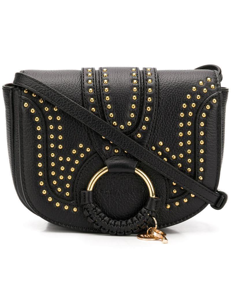 8010b5343b See By Chloé - Black Hana Studded Cross Body Bag - Lyst