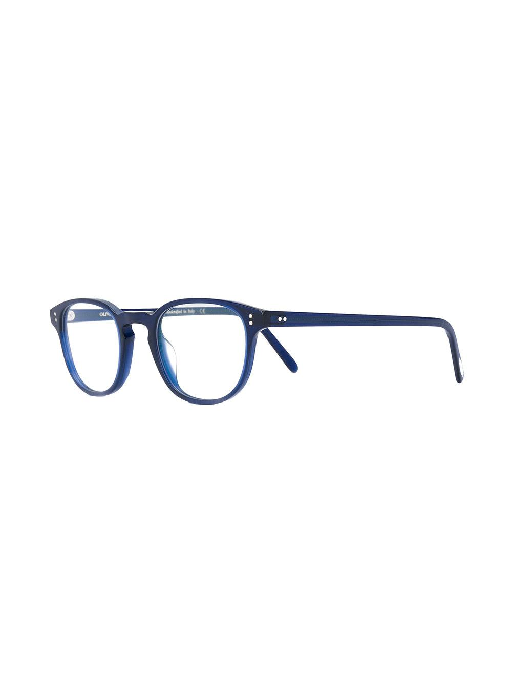 67b68f2fba9 Oliver Peoples - Blue  fairmont  Square Frame Glasses - Lyst. View  fullscreen