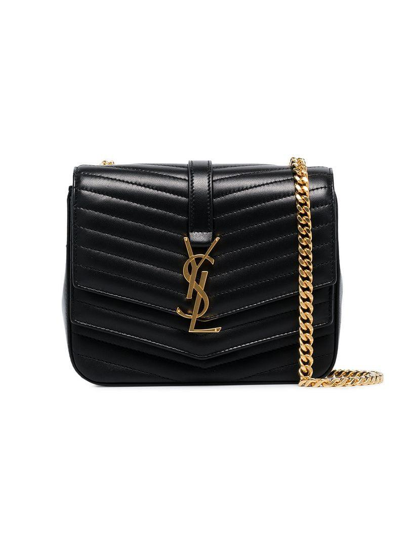 0c4cf8335207 Saint Laurent Black Small Sulpice Shoulder Bag in Black - Lyst