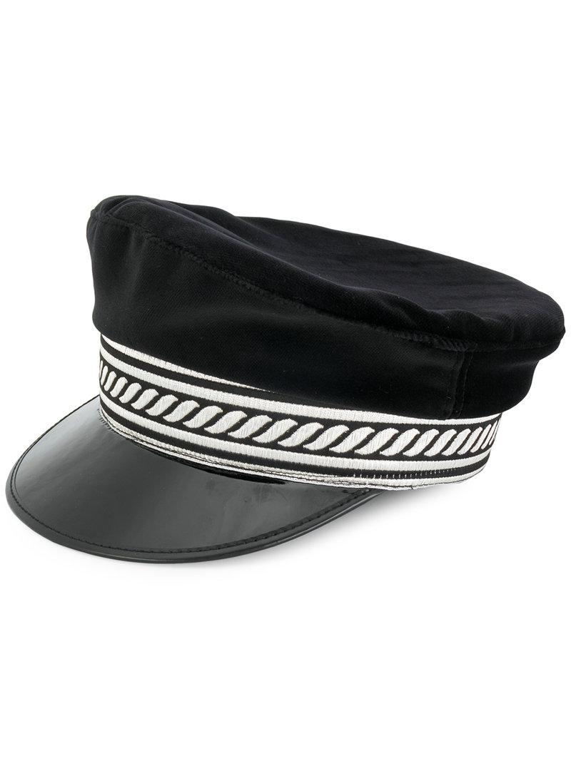 Manokhi Military Hat in Black - Lyst ee6d7d30f6cc