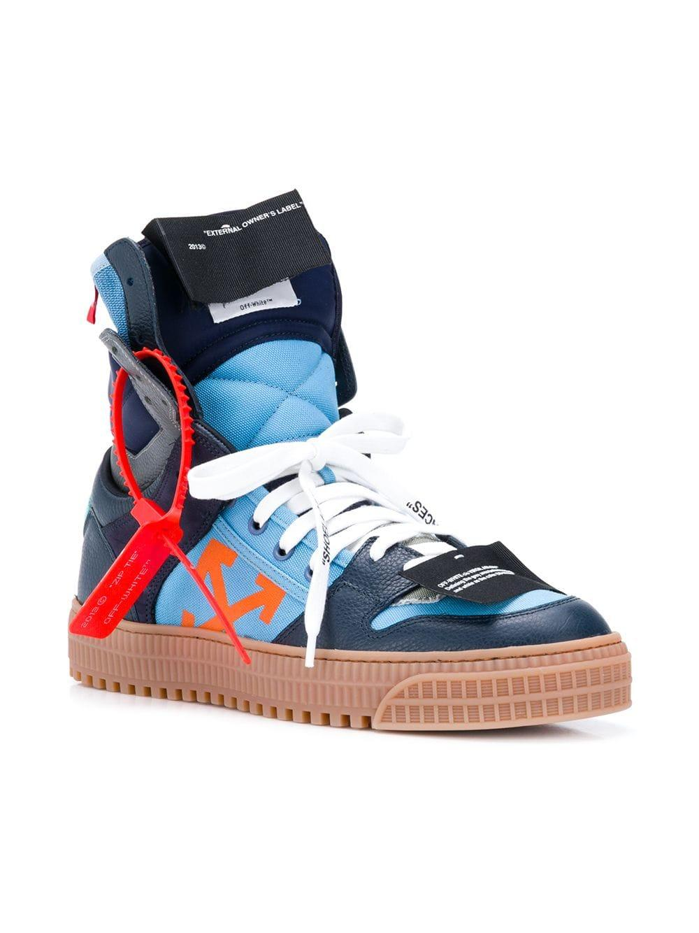 22c2b9eb7e01 Off-White c o Virgil Abloh Men s Off Court Suede leather High-top Sneakers  in Blue for Men - Save 22.077922077922082% - Lyst