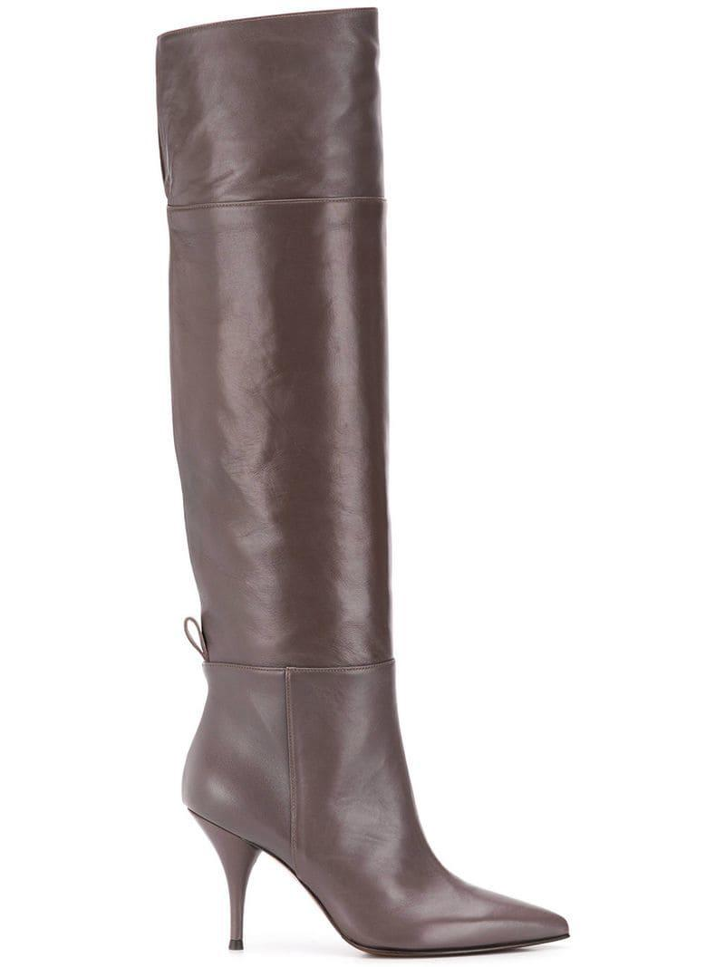 b46e36620 Lyst - L'Autre Chose Knee-length Boots in Gray