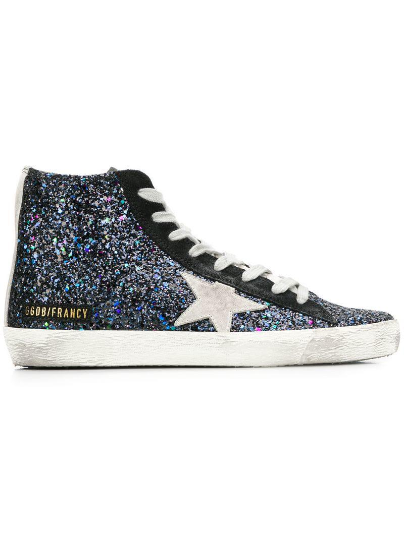 38aef78de4f6 Lyst - Golden Goose Deluxe Brand Francy Glittered Sneakers in Black