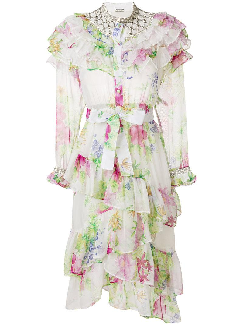 floral print tiered dress - White Dodo Bar Or Best Place For Sale Explore For Sale FnkKHx