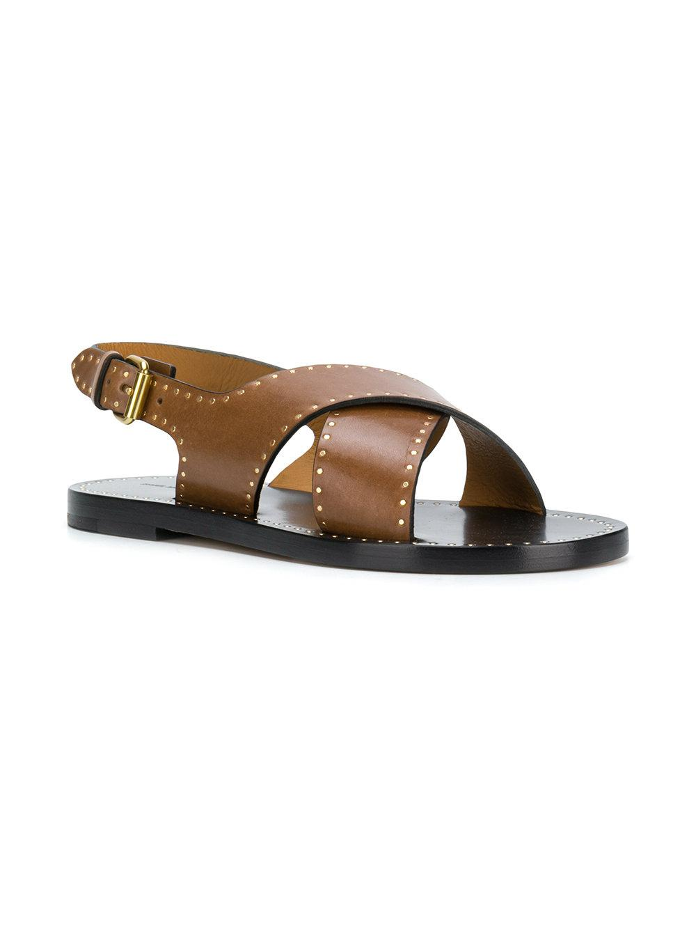 Isabel Marant Women's Jane Cross Over Flat Sandals Buy Best Low Cost Online Discount New Low Cost azGboA31Qt