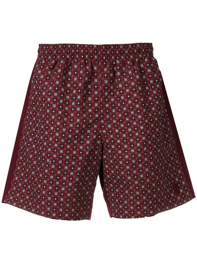 f7b443f246 Alexander Mcqueen Printed Swimming Shorts in Red for Men - Lyst
