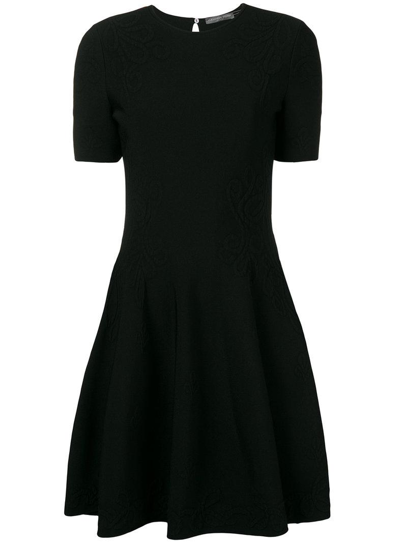 textured skater dress - Black Alexander McQueen G3rKpZXkd