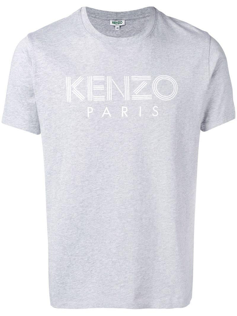 dcbf72e8 KENZO - Gray Logo Print T-shirt for Men - Lyst. View fullscreen
