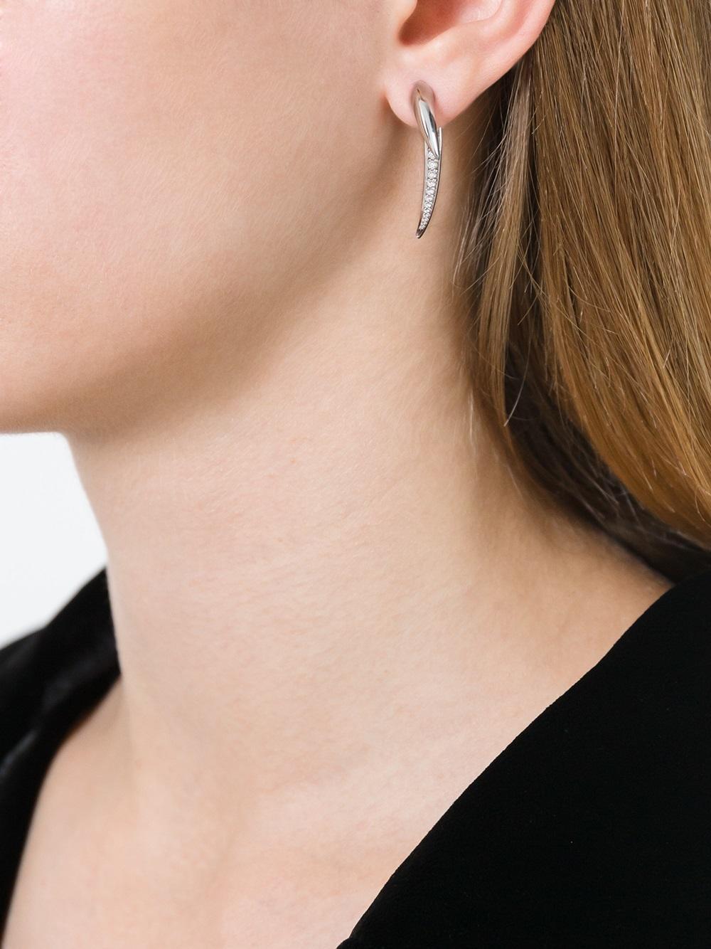 93f615ad6 Lyst - Shaun Leane Diamond Hook Tusk Earrings in Metallic