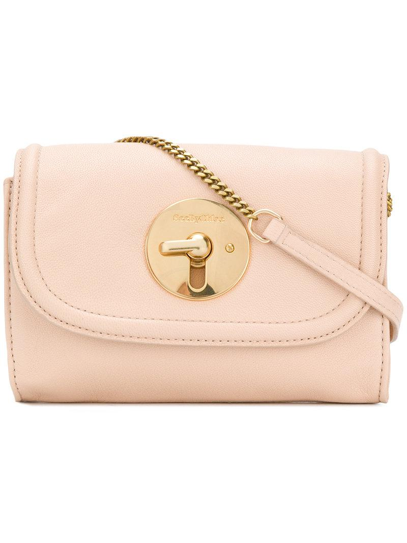 Lyst - See By Chloé Lois Crossbody Bag in Natural 3b3d7af424f86